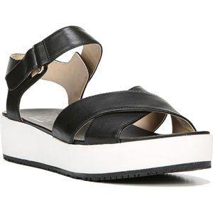 Dr. Scholl's Shoes - Dr. Scholl's Frills Black & White Platform Sandals